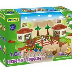 Ігровий набір Wader Ранчо з дорогою 1.6 м Kid Cars 3D 53410