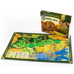 "Карта-пазл Uteria ""Флора и фауна Укр"" UKRAINIAN GEARS 727798"