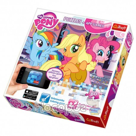 "Пазл ""80 App Puzzle"" - Веселые Пони, Hasbro, My Little Pony (75100)"