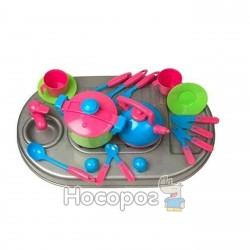 Набор Плита с мойкой и посудой Kinderway 04-410
