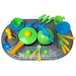 Набор Плита с мойкой и посудой Kinderway 04-411