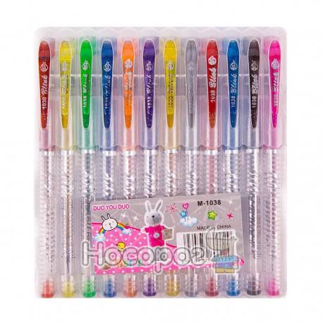 Ручки в наборе M-1038 12 цветов