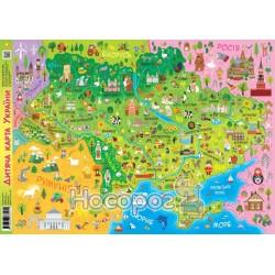 """Карта Украины детская """"Зірка"""" (укр.)"""