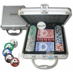 Настольная игра Покерный набор 100 фишек по 11,5 г (алюминиевый кейс) 59208