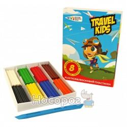 Пластилін Гамма Travel Kids Восковий 8 кольорів