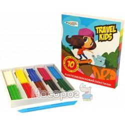 Пластилін Гамма Travel Kids Восковий 10 кольорів