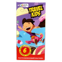 Пластилин Гамма Travel Kids 6 цветов