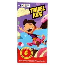 Пластилін Гамма Travel Kids 6 кольорів