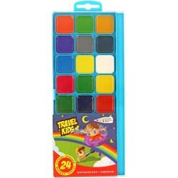 Краски акварельные Гамма Travel Kids 24 цвета