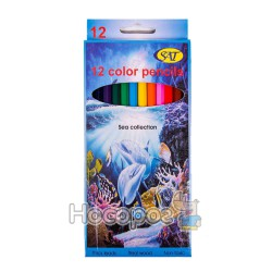 Олівці кольорові SAT CP-7-12
