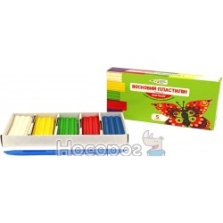 Пластилін Гамма Україна Craft & Joy Восковий 5 кольорів 60 г