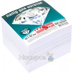 Блок бумаги для заметок Crystal белый