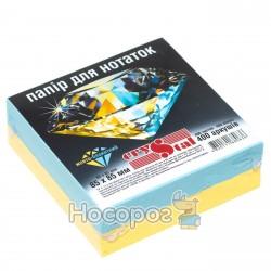 Блок бумаги для заметок CRYSTAL желто-голубой
