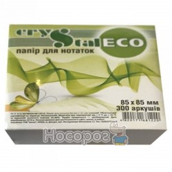 Блок бумаги для заметок CRYSTAL ECO клееный 300