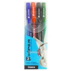 Набір гелевих ручок Hiper Teen HG-125/4