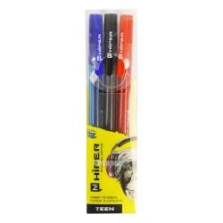 Набір гелевих ручок Hiper Teen HG-125/3