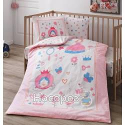 Детский набор постельного белья Organik Fancy V01-PEMBE