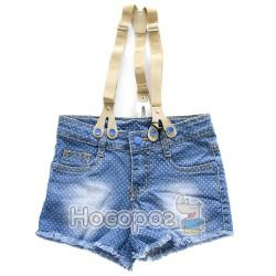 8304 Шорты джинсовые в горошек