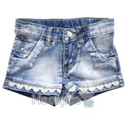 8301 Шорты джинсовые с вязаным принтом