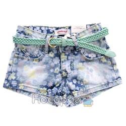 6785 Шорты джинсовые в цветах