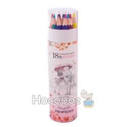 Карандаши цветные AIHAO 9020-18
