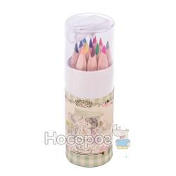 Карандаши цветные AIHAO 9019-12 набор мини с точилкой