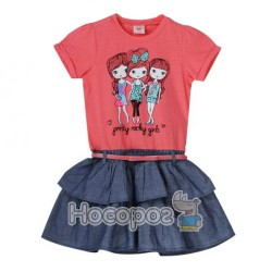 8636 Платье Pretty rocky girls с ремешком
