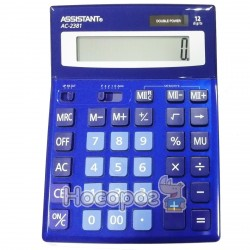 Калькулятор ASSISTANT АС-2381 синий
