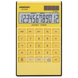 Калькулятор ASSISTANT АС-2326 желтый