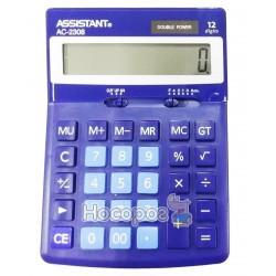 Калькулятор ASSISTANT АС-2308 синій