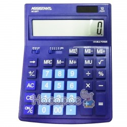 Калькулятор ASSISTANT АС-2377 синий