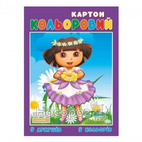Картон цветной Руслан А4, 9л.