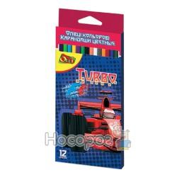 Карандаши цветные OLLI OL100-12Т Turbo 12 цв.