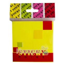 Бумага для заметок с липким слоем Bourgeois 170/02 171/(01/02) 31/51/61 неон цветной