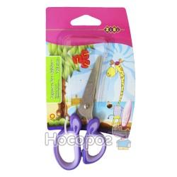 Ножиці дитячі з гумовими вставками ZB.5011-07 фіолетові