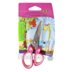 Ножницы детские с резиновыми вставками ZB.5011-10 розовые