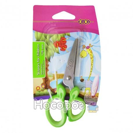 Ножиці дитячі з гумовими вставками ZB.5011-15 салатові