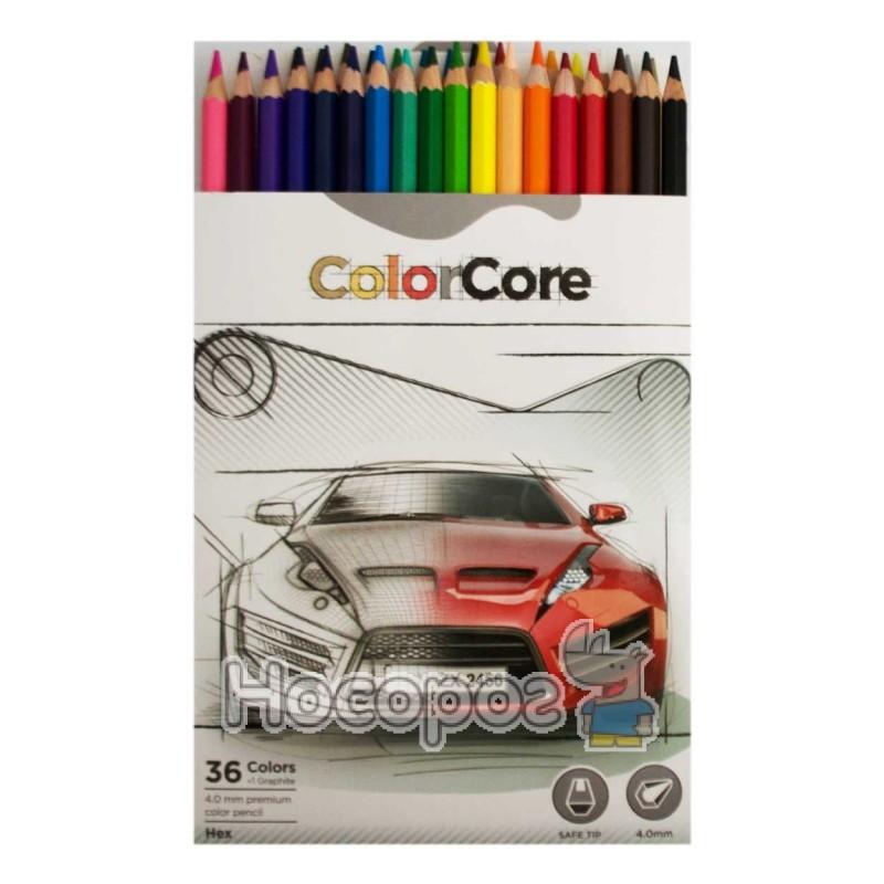 Фото Олівці кольорові Marco 3100-36CB ColorCore