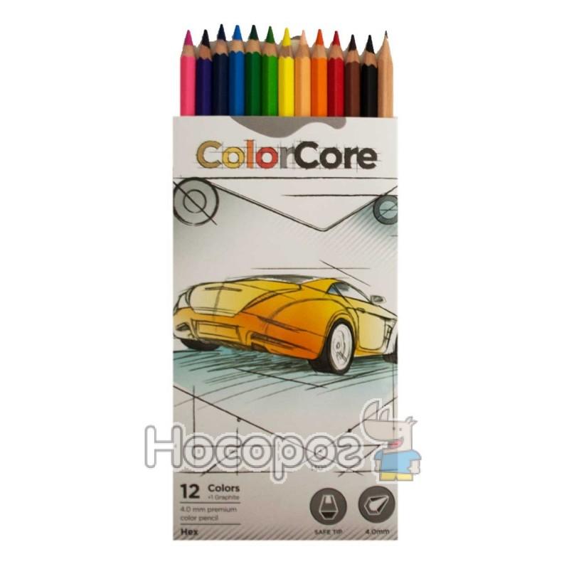 Фото Олівці кольорові Marco 3100-12CB ColorCore