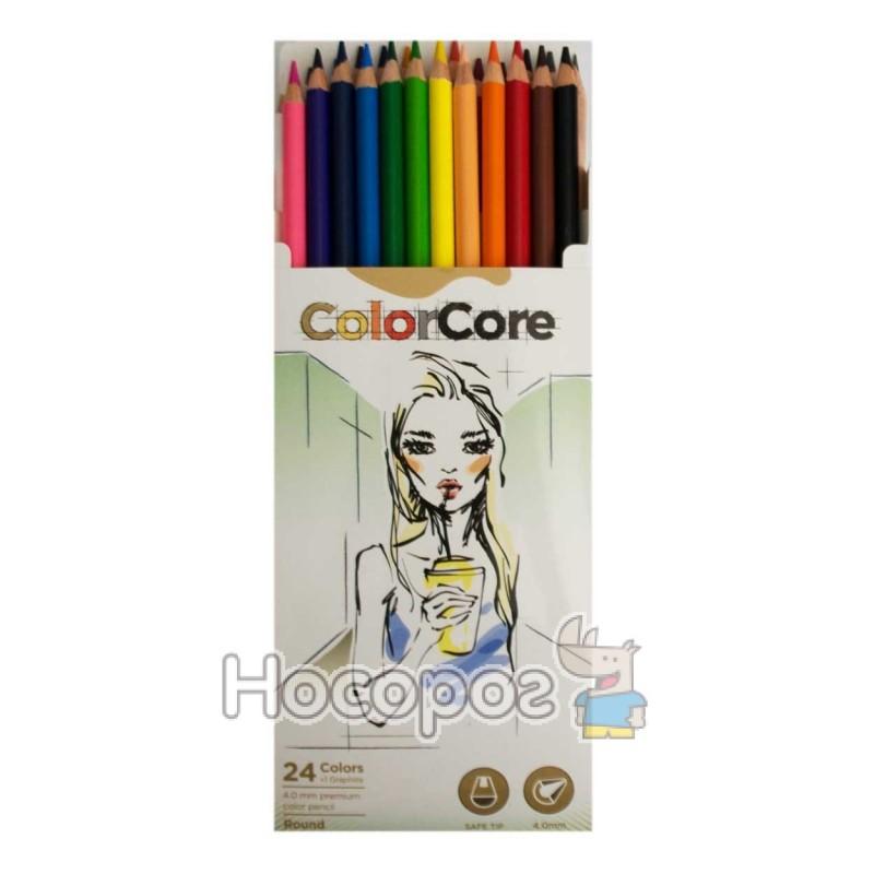 Фото Олівці кольорові Marco 3130-24CB ColorCore