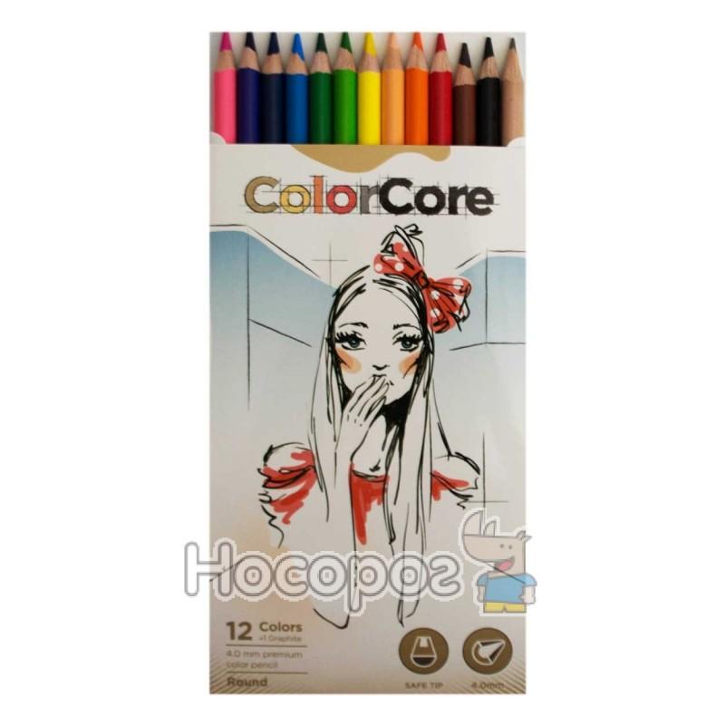 Фото Олівці кольорові Marco 3130-12CB ColorCore
