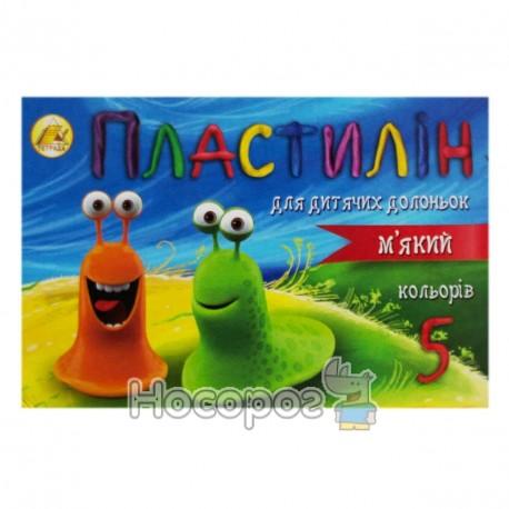 Пластилин мягкий с церезином Тетрада 5 цв., 110 г