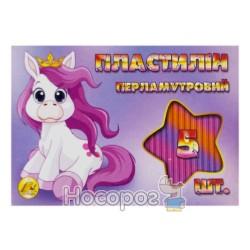 Пластилин перламутровый Тетрада 5 цв., 110 г