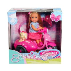 "Кукла 573 6584 Эви ""Прогулка на скутере"" с собачкой"