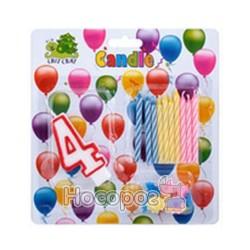 Набор свечей для торта 57019-4