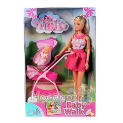 Кукла 573 3067 Штеффи и коляска с малышом