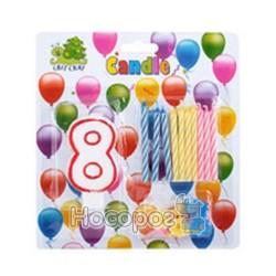 Набор свечей для торта 57019-8