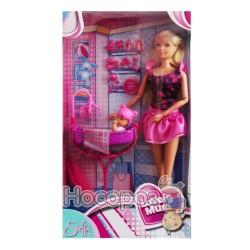 """Кукла 573 0933 Штеффи """"Заботливая мама"""" с малышом, кроваткой та аксессуарами"""