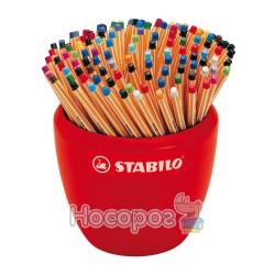 Ручка STABILO point88 капилярная в керамической вазе