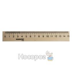 Линейка деревянная Колорит 15 см